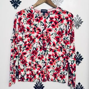 Lands End (petites) womens floral cardigan